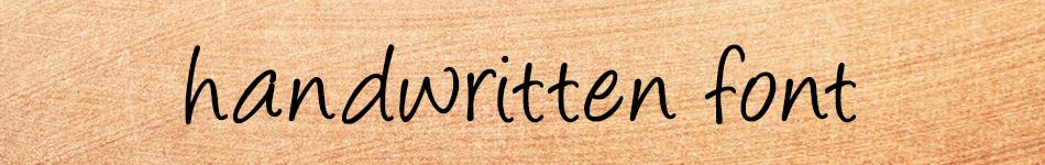 Fonts_script-handwritten