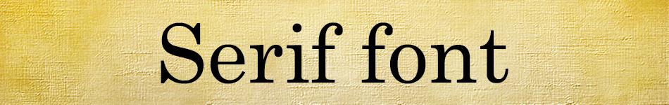Fonts_serif