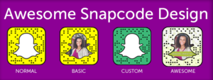 Snapcodes that are customized